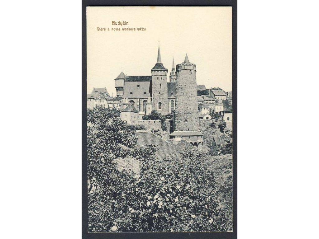 Deutschland, bautzen, Der alte und neue Wasserturm, cca 1910