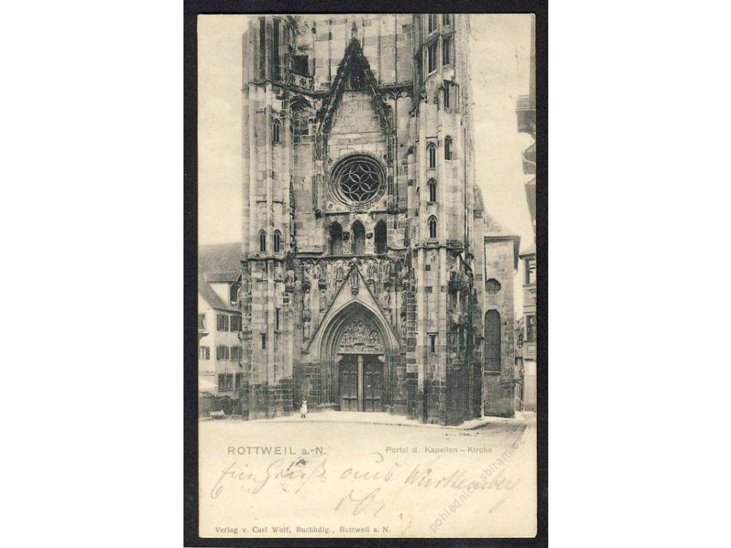 Deutschland, Rottweil a. N., Kirche, Portal d. Kapellen, cca 1902