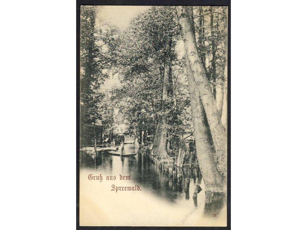 Deutschland, Gruss aus dem Spreewald, cca 1900