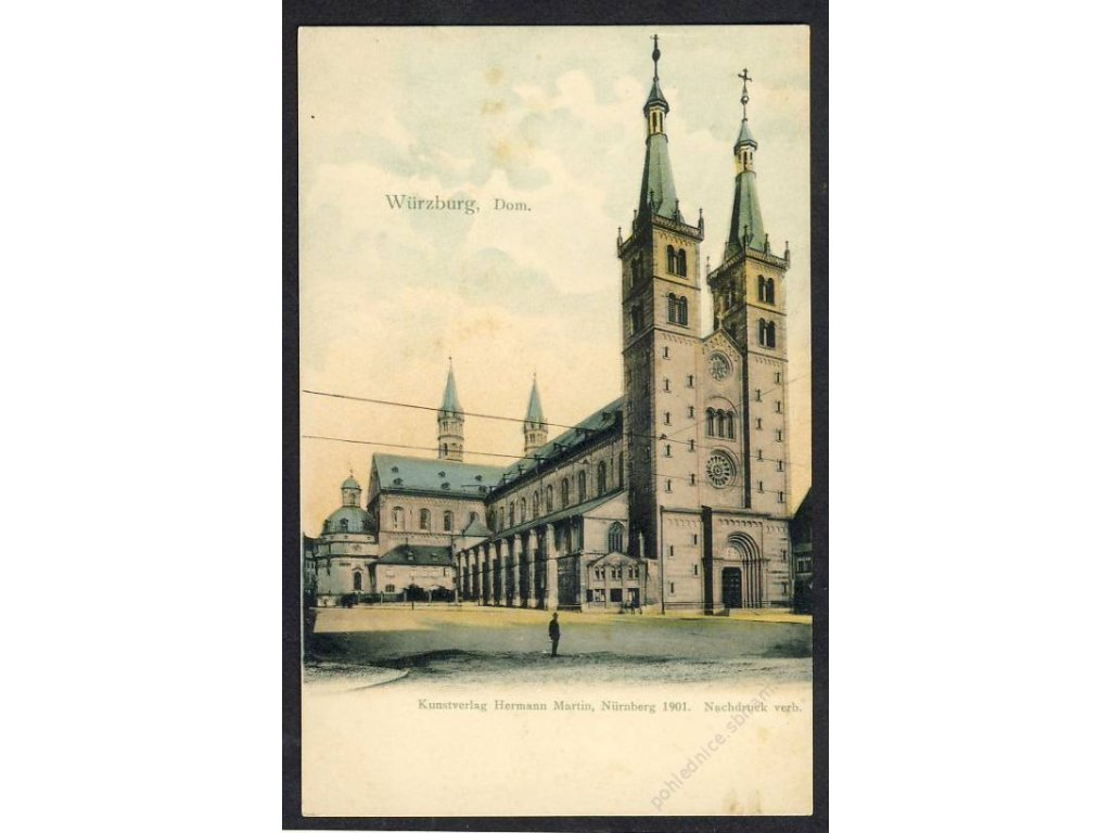 Deutschland, Würzburg, Dom, cca 1898
