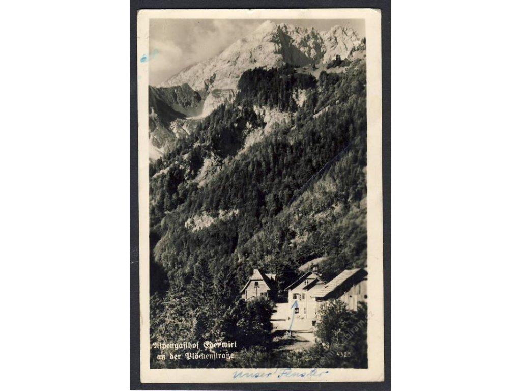 Deutschland,  Alpengasthof Edelwirt an der Plöckenstrasse, cca 1940