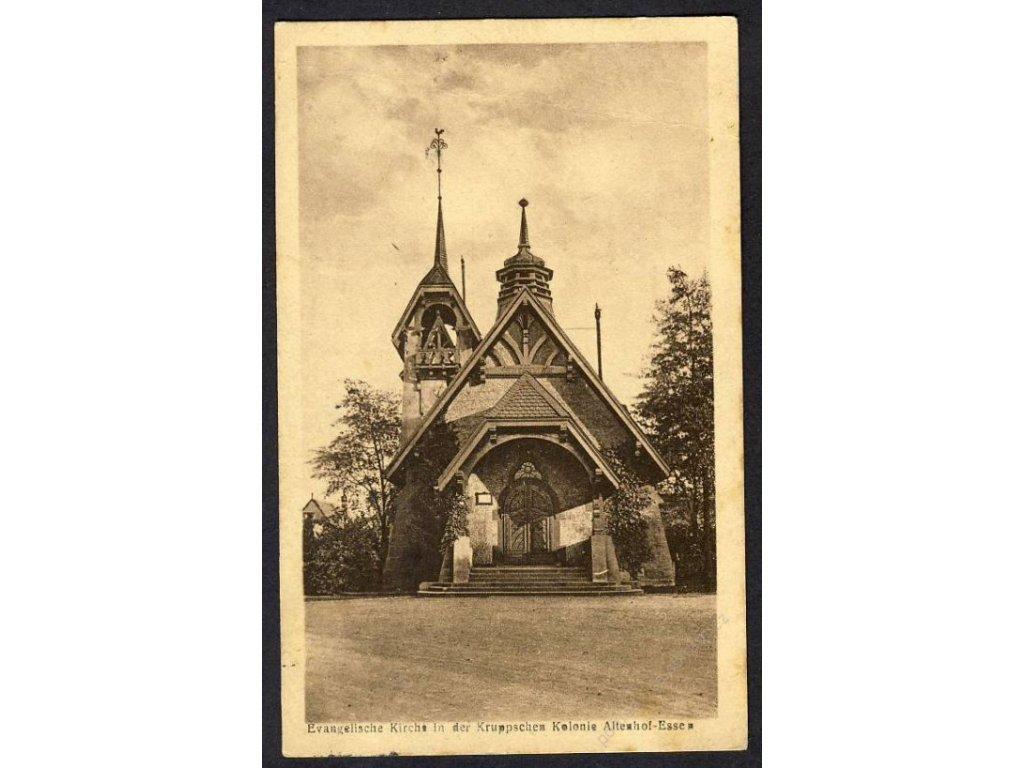 Deutschland, Evangelische Kirche in der Kruppschen Kolonie Altenhof-Essen, cca 1925