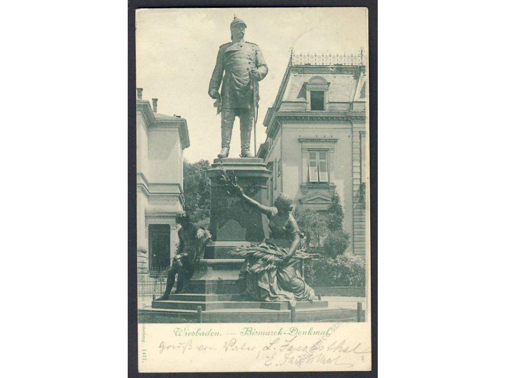 Deutschland, Wiesbaden, Bismarck-Denkmal, cca 1901