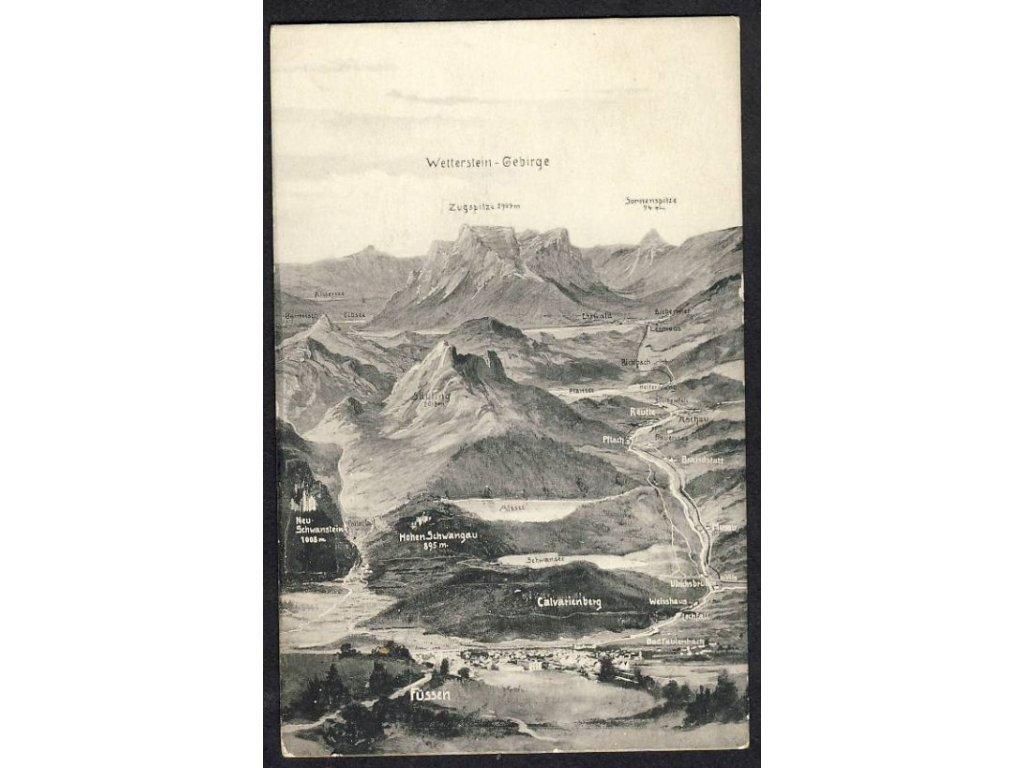 Deutschland, Wetterstein-Gebirge, cca 1908