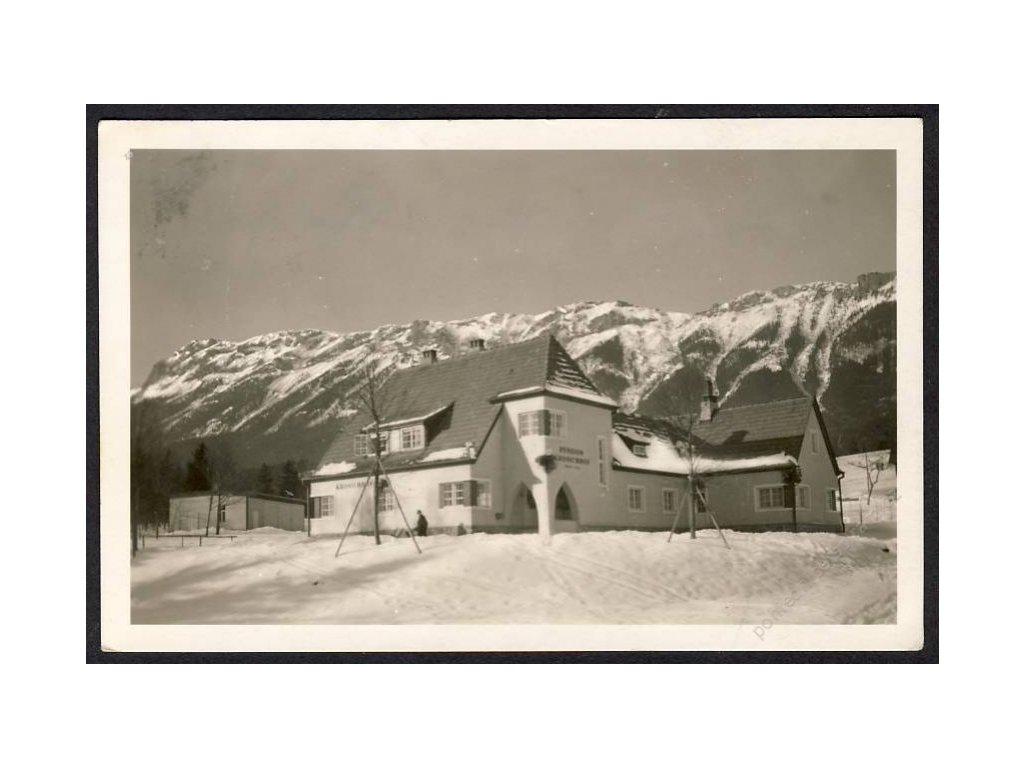 """Österreich, Pension-Restaurant """"Kronichhof"""" am Fusse der Rax, cca 1933"""