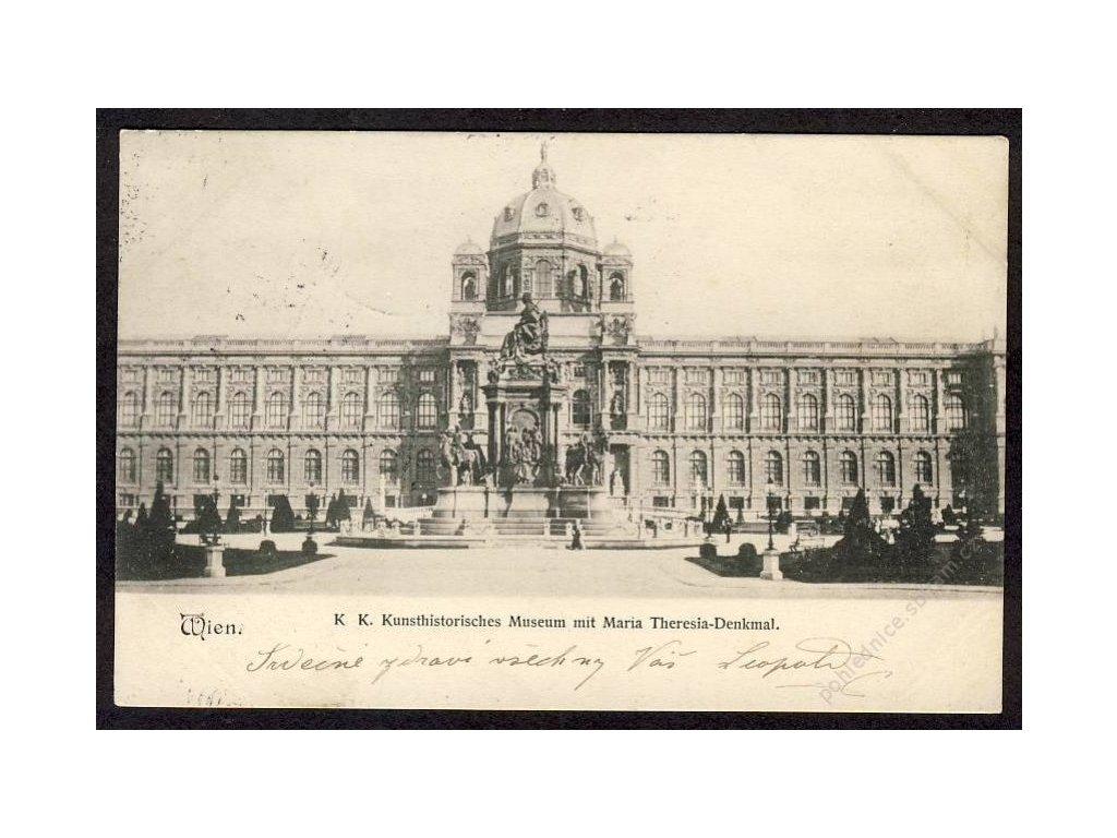 Österreich, Wien, K. K. Kunsthistorisches Museum mit Maria Theresia-Denkmal, cca 1900