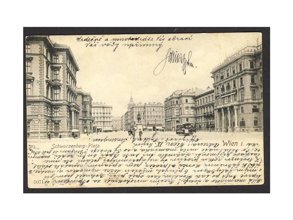 Österreich, Wien, Schwarzenberg-Platz, Tram!!!, cca 1902