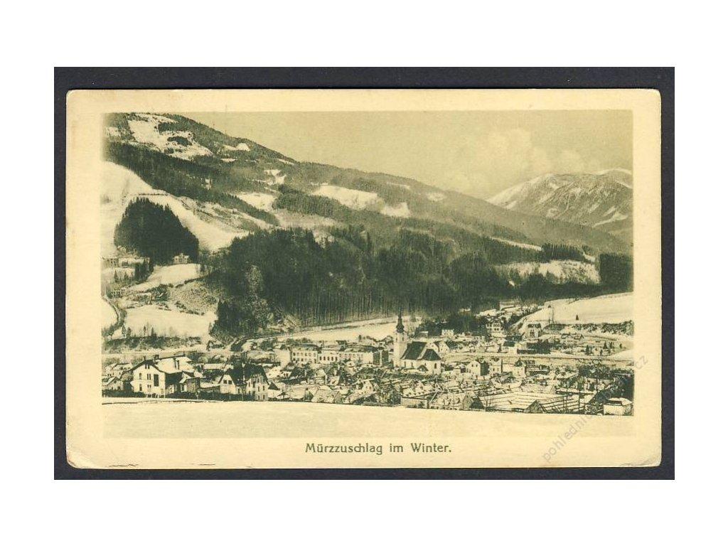 Österreich, Murzzuschlag im Winter, cca 1917