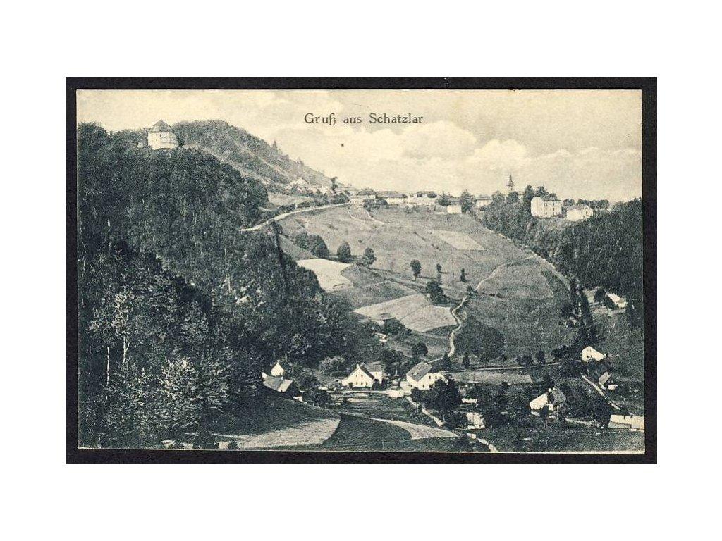 Österreich, Gruss aus Schatzlar, Totalansicht, cca 1920