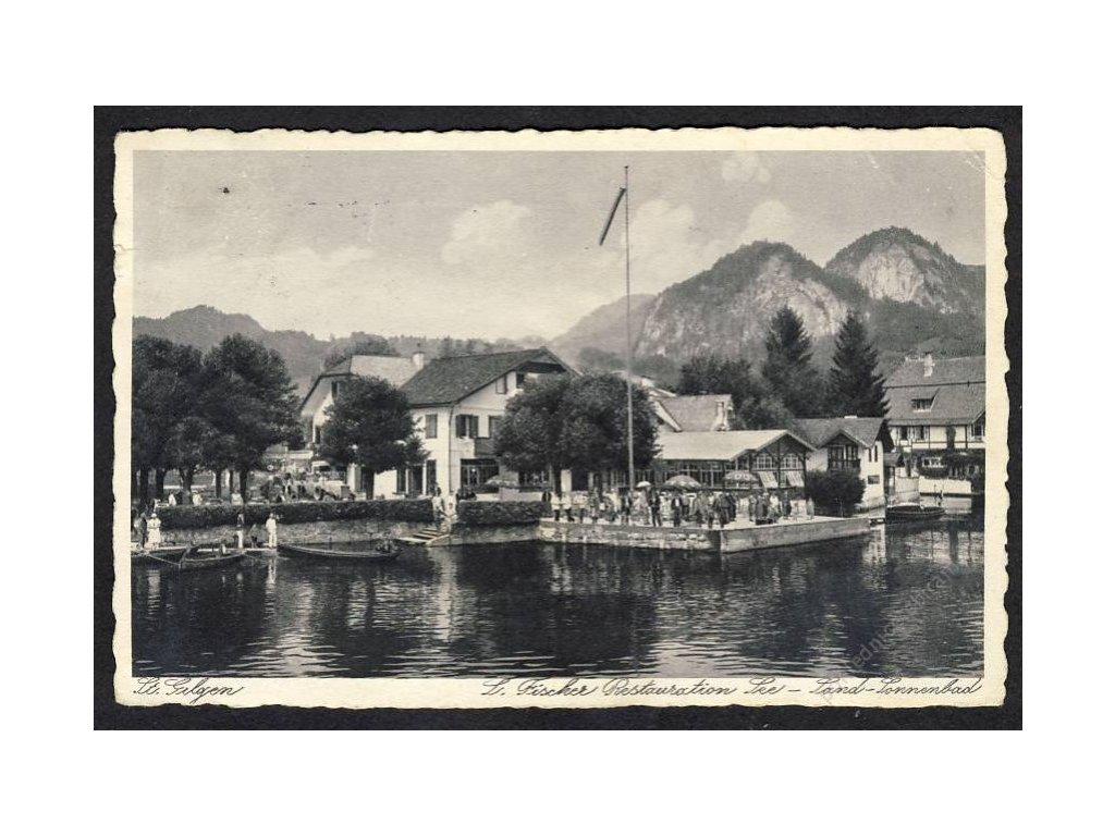 Österreich, St. Gilgen, Salzkammergut, Restaurant u. Bad, cca 1931