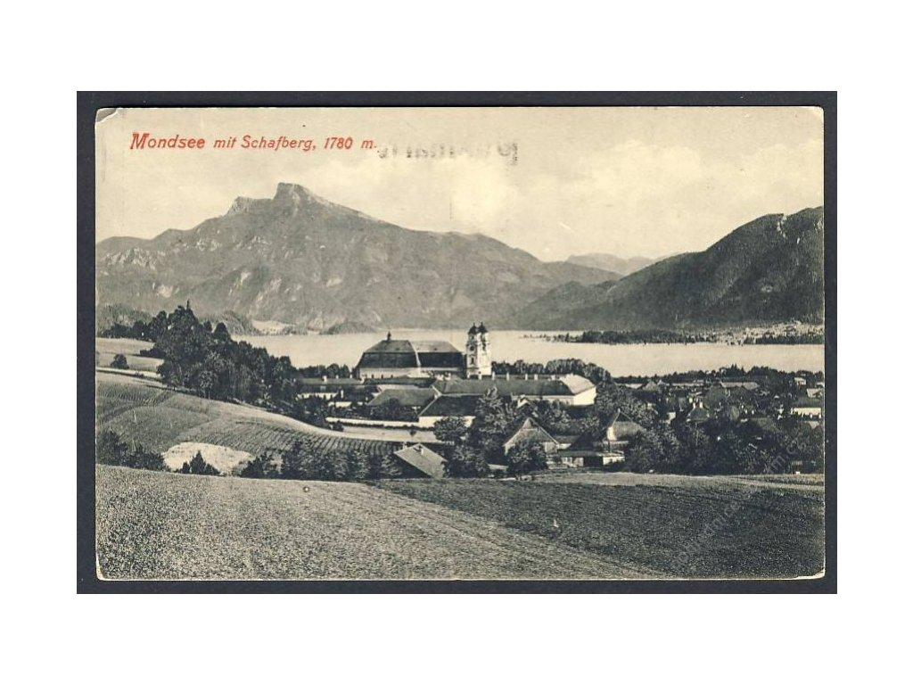Österreich, Mondsee mit Schafberg, cca 1918