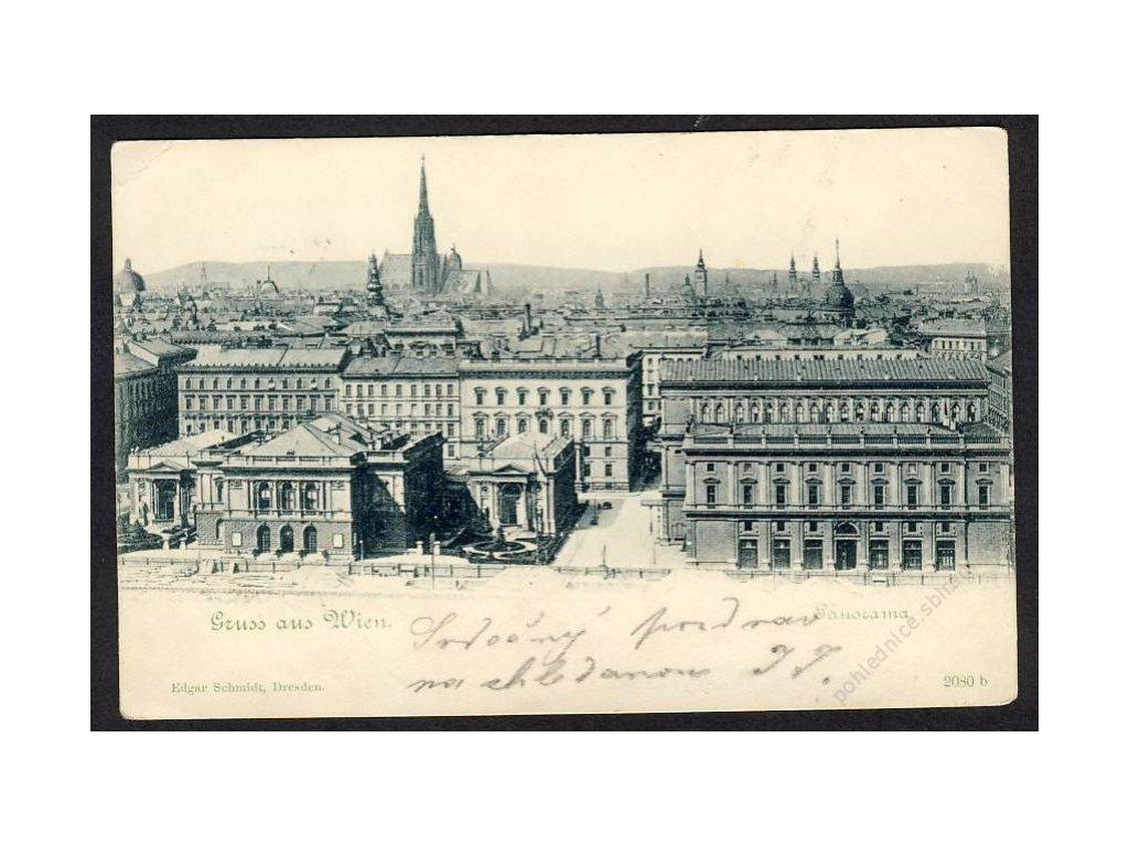 Österreich, Gruss aus Wien, Panorama, cca 1899
