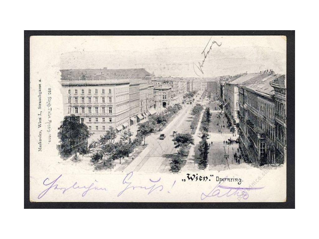 Österreich, Wien, Operring, cca 1900