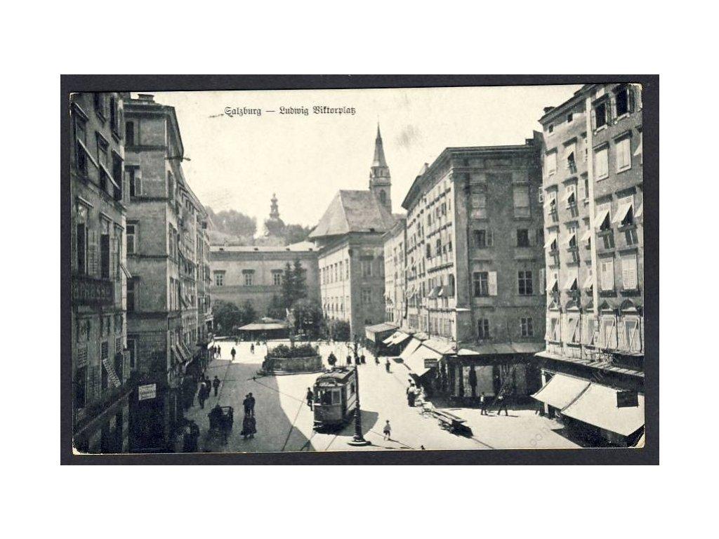 Österreich, Salzburg, Ludwig Viktorplatz, cca 1915