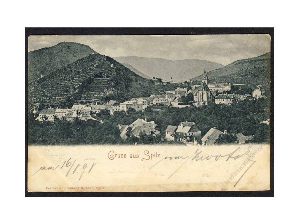 Österreich, Gruss aus Spitz, Totalansicht, cca 1898