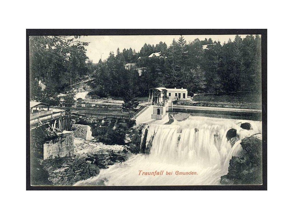 Österreich, Traunfall bei Gmunden, cca 1907
