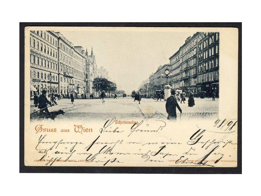 Österreich, Gruss aus Wien, Schottenring, cca 1898