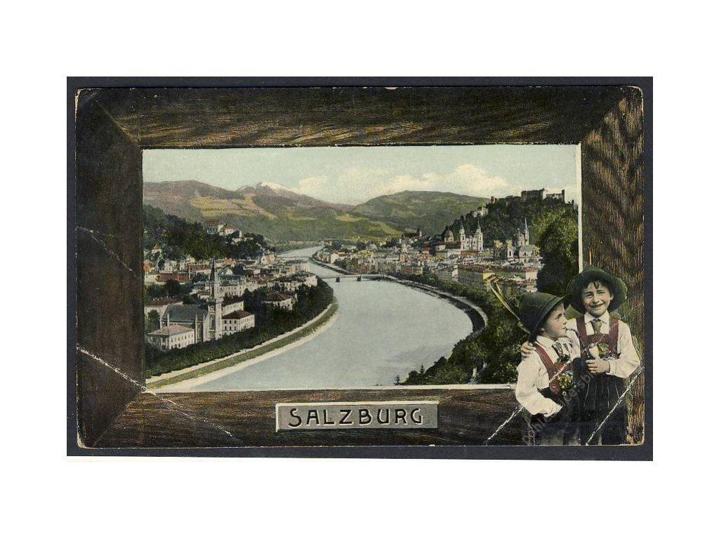 Österreich, Salzburg, Teilansicht, cca 1909