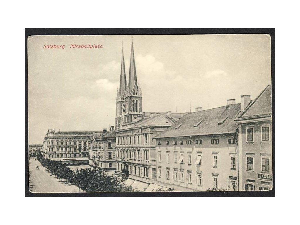Österreich, Salzburg, Mirabellplatz, cca 1908
