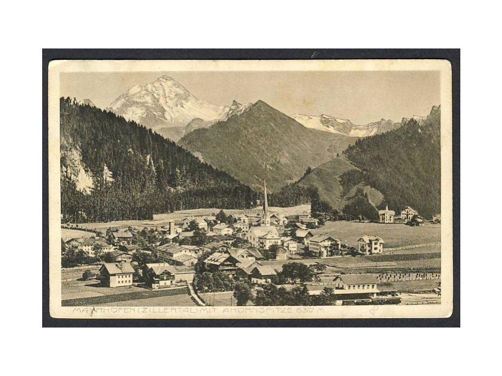 Österreich, Mayerhofen mit Ahornspitze, cca 1910