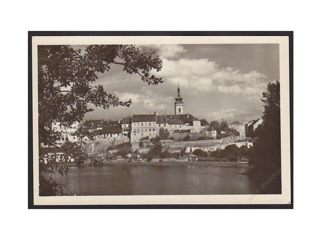 46 - Písek, celkový pohled, cca 1945