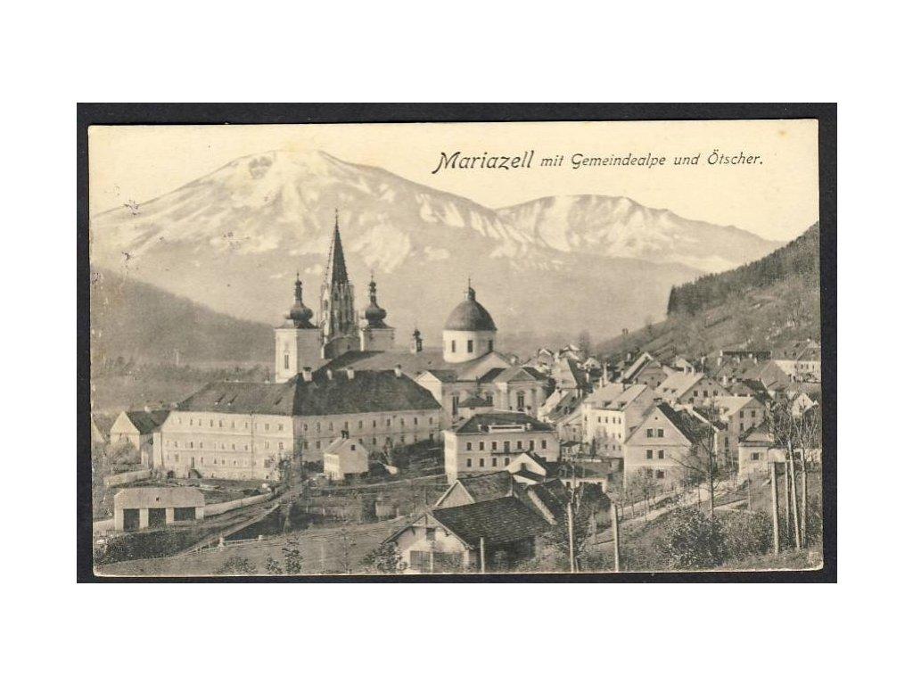 Österreich, Mariazell mit Gemeindealpe und Ötscher, cca 1913