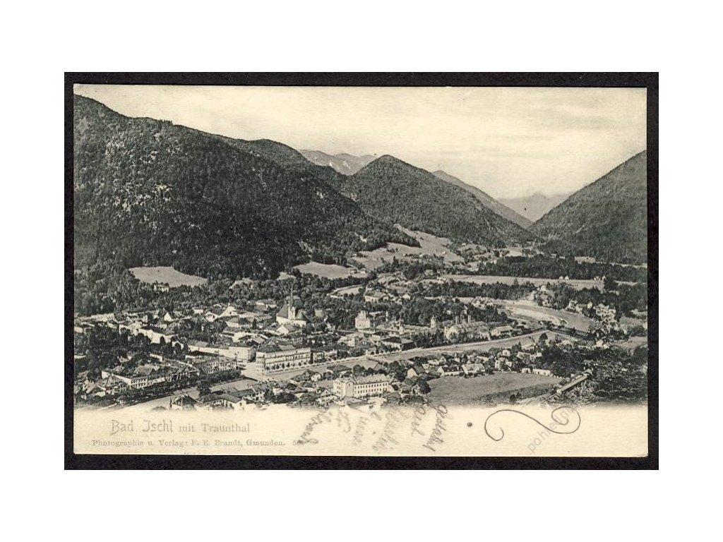 Österreich, Bad Ischl mit Traunthal, cca 1900
