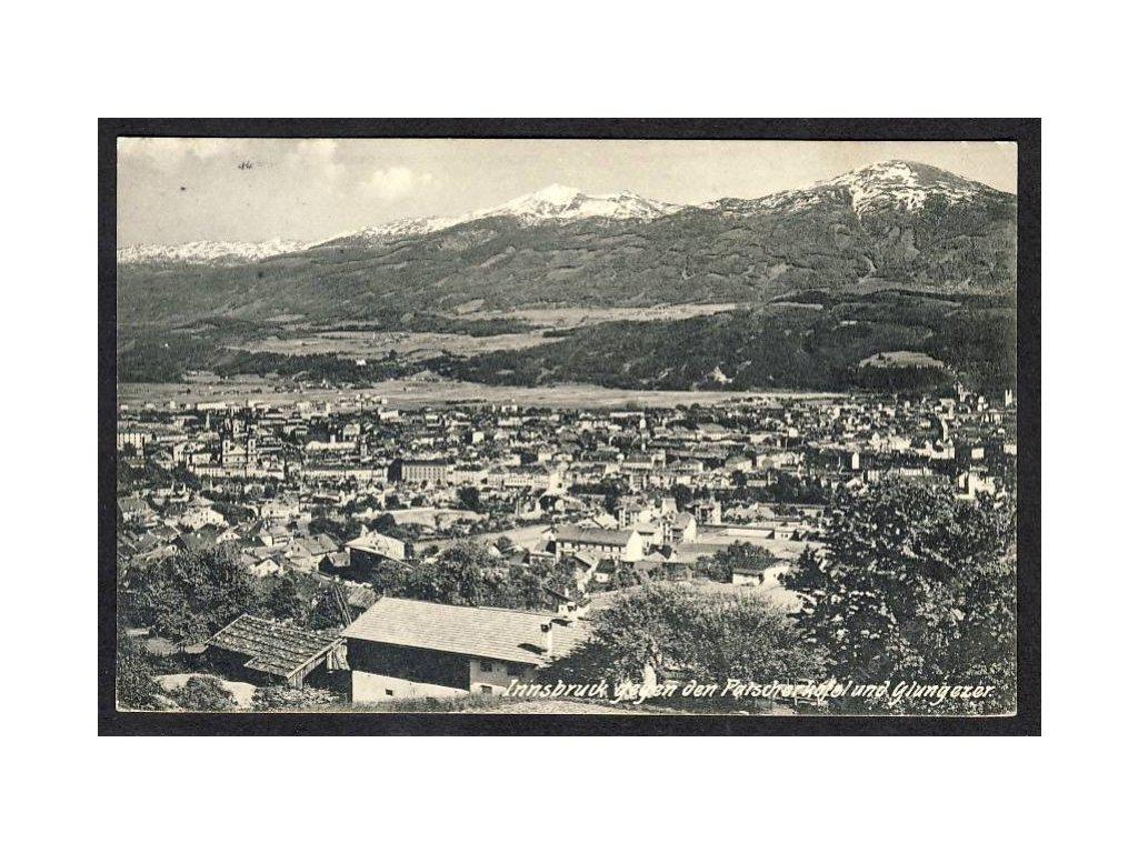 Österreich, Innsbruck gegen den Patscherkofel und Glungezer, cca 1912