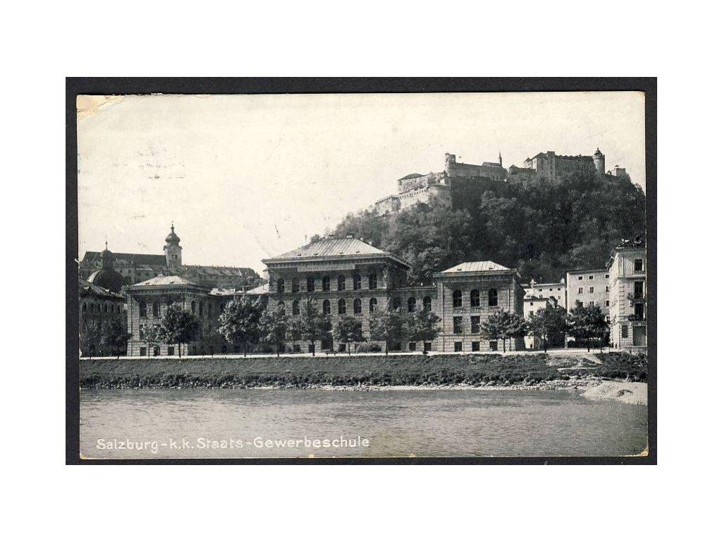Österreich, Salzburg - k. k. Staats-Gewerbeschule, cca 1915
