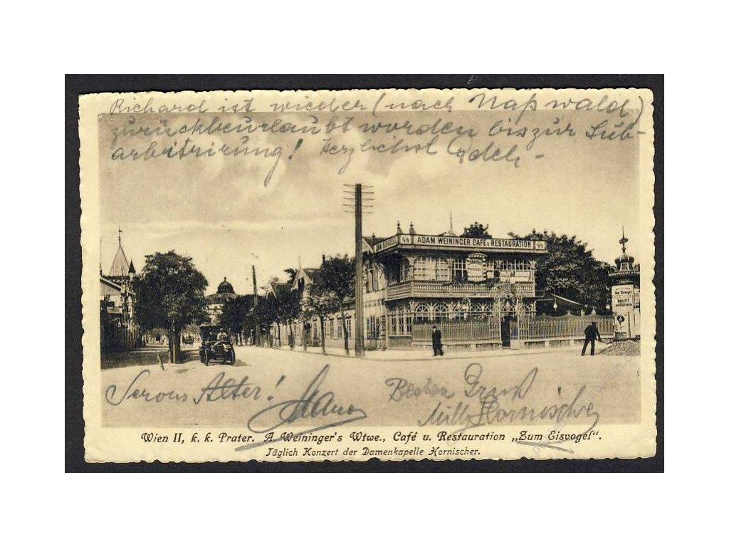 """Österreich, Wien, k. k. Prater, Café und Restauration """"Zum Eisvogel"""", cca 1914"""