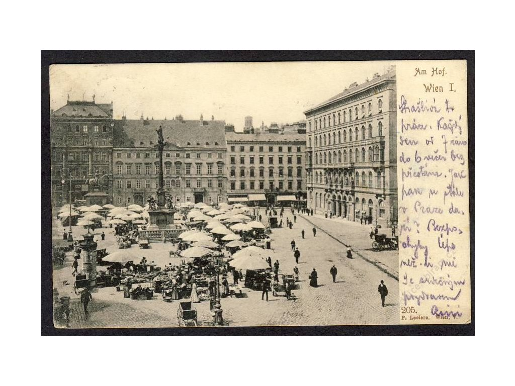 Österreich, Wien, Am Hof, cca 1900