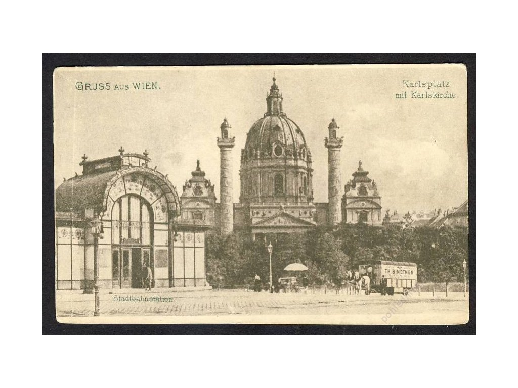 Österreich, Gurss aus Wien, Karlsplatz mit Karlskirche, cca 1989