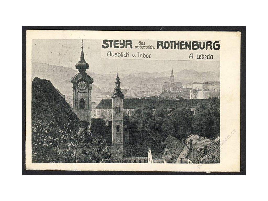 Österreich, Steyr, das österreichische Rothenburg, cca 1910