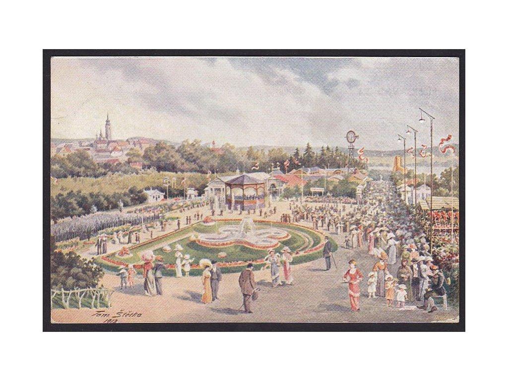 46 - Písek, výstaviště, nakl. Hofman, cca 1913