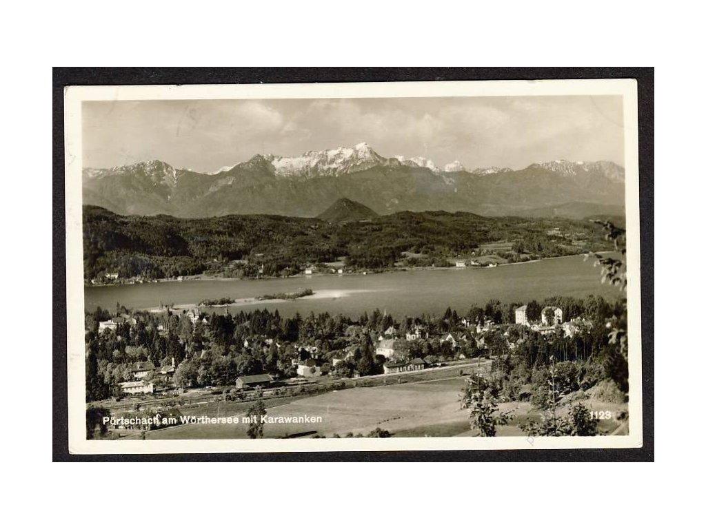 Österreich, Pörtschach am Wörthersee mit Karawanken, cca 1930