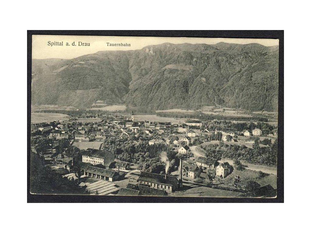 Österreich, Spittal a. d. Drau, Tauernbahn, cca 1910