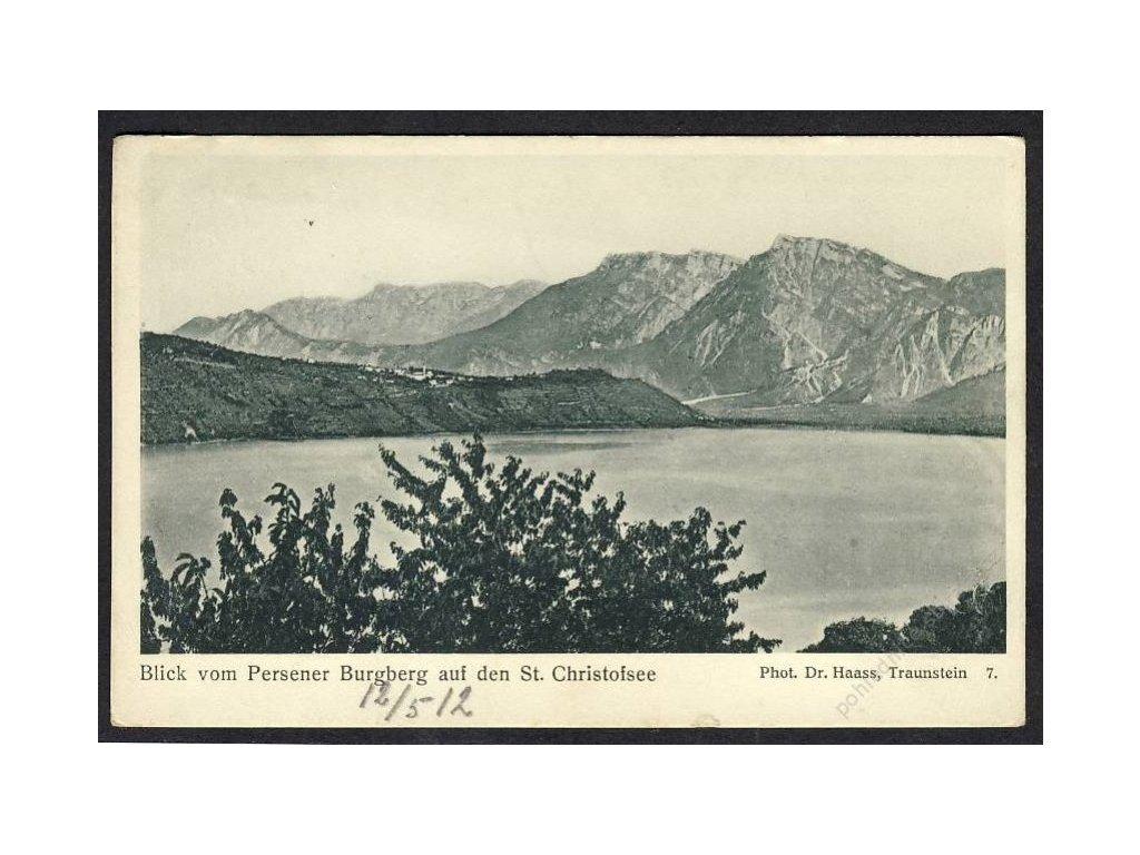 Österreich, Blick vom Persener Burgberg auf den St. Christofsee, cca 1910
