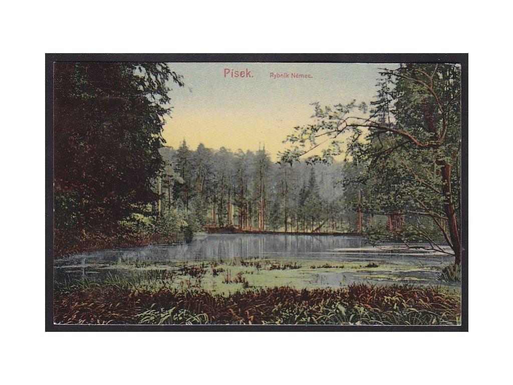 46 - Písecko, rybník Němec, nakl. Thorovský, cca 1908