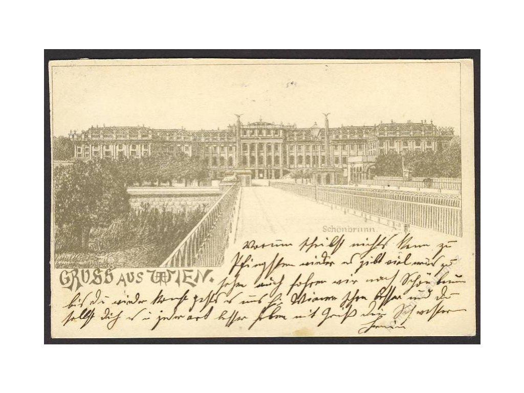 Österreich, Gruss aus Wien, Schönbrunn, cca 1898