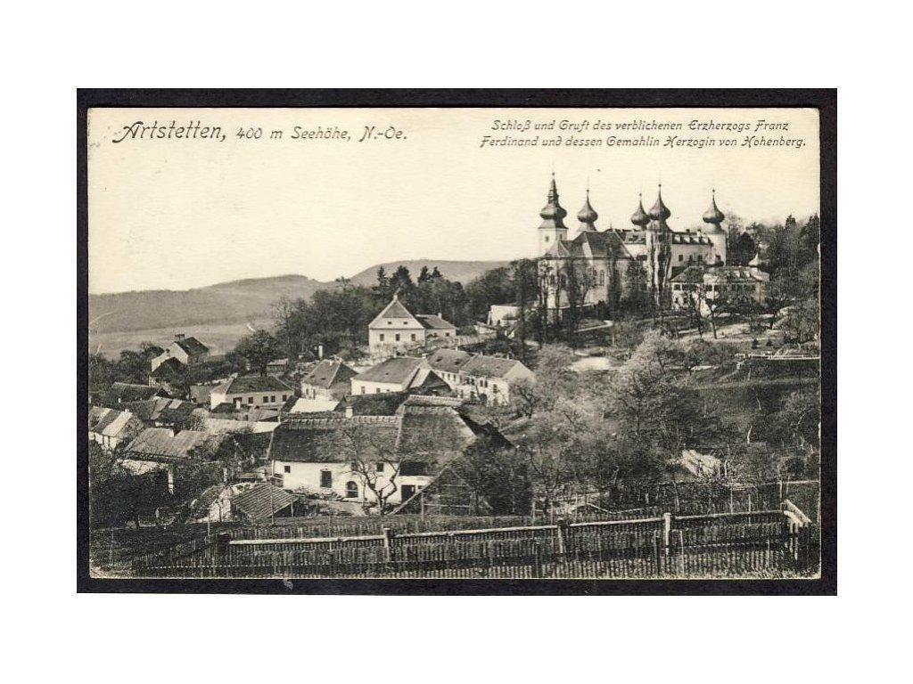 Österreich, Arststetten, Schloss u. Gruft des  Erzherzogs Franz Ferdinand, cca 1915