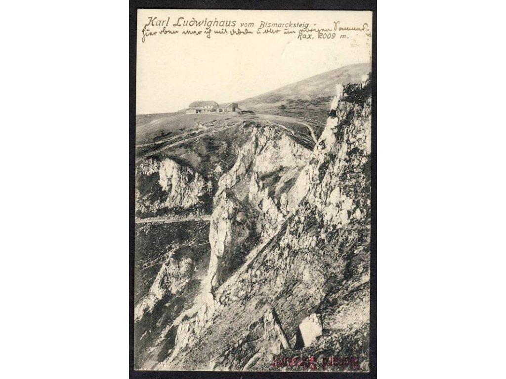 Österreich, Karl Ludwighaus vom Bismarcksteig, cca 1913