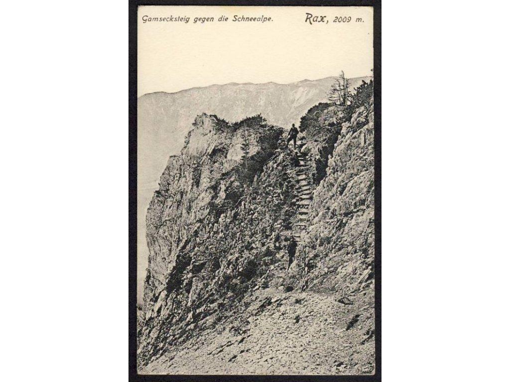 Österreich, Gamsecksteig gegen die Schneealpe, Rax, cca 1913