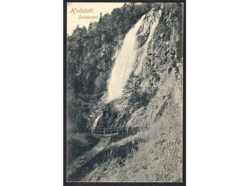 Österreich, Hallstatt, Schleierfall, cca 1904