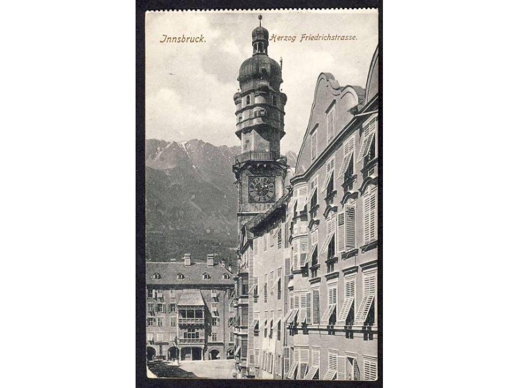 Österreich, Innsbruck, Herzog Friedrichstrasse, cca 1908