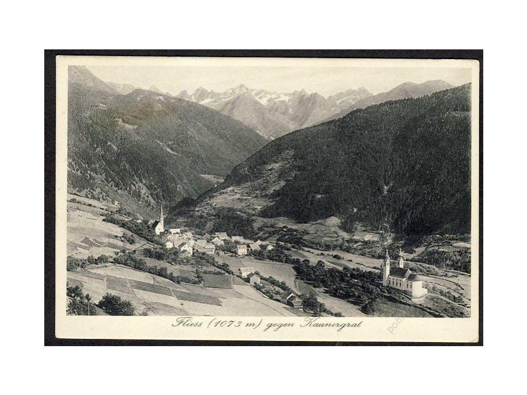 Österreich, Fliess gegen Kaunergrad, cca 1930