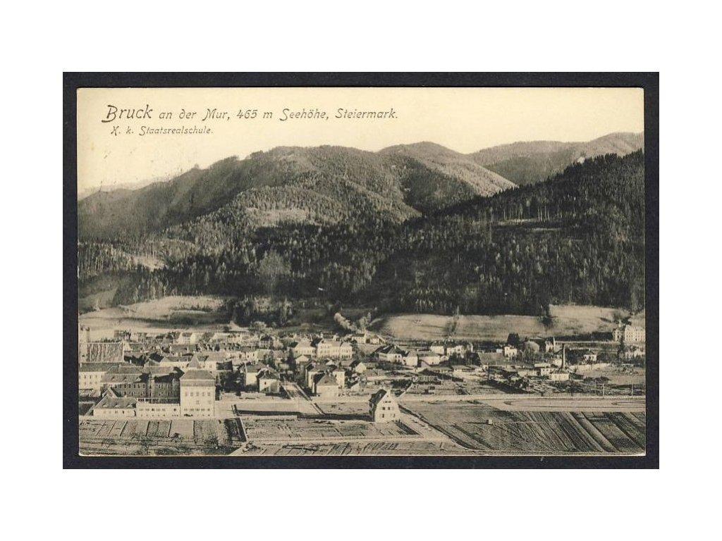 Österreich, Bruck an der Mur, Steiermark, K. k. Staatsrealschule, cca 1916