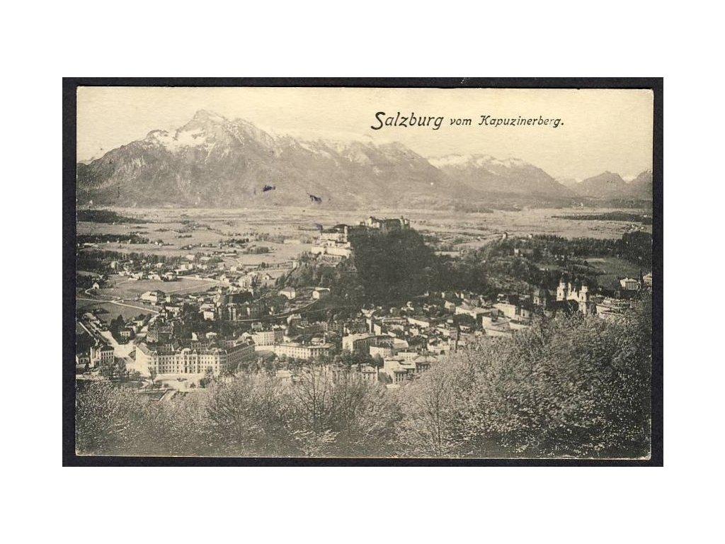 Österreich, Salzburg vom Kapuzinerberg, cca 1910
