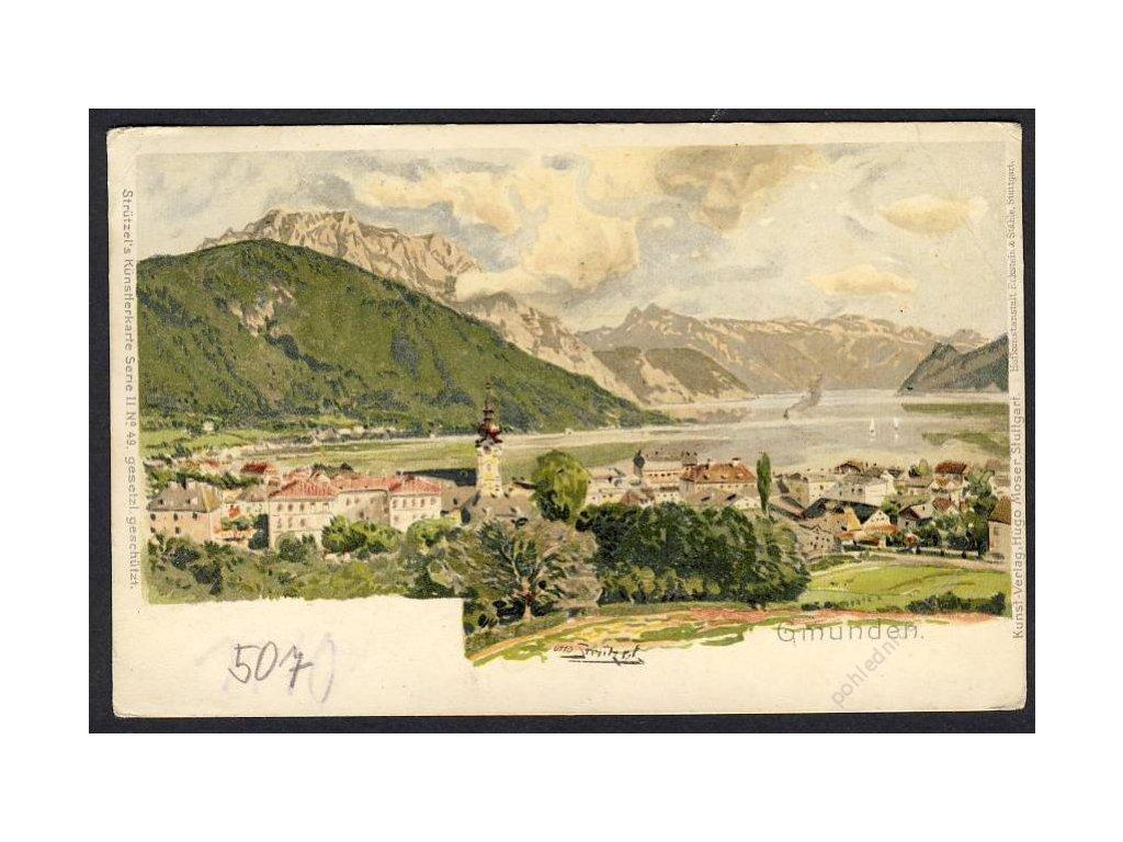 Österreich, Gmunden, Totalansicht, cca 1910