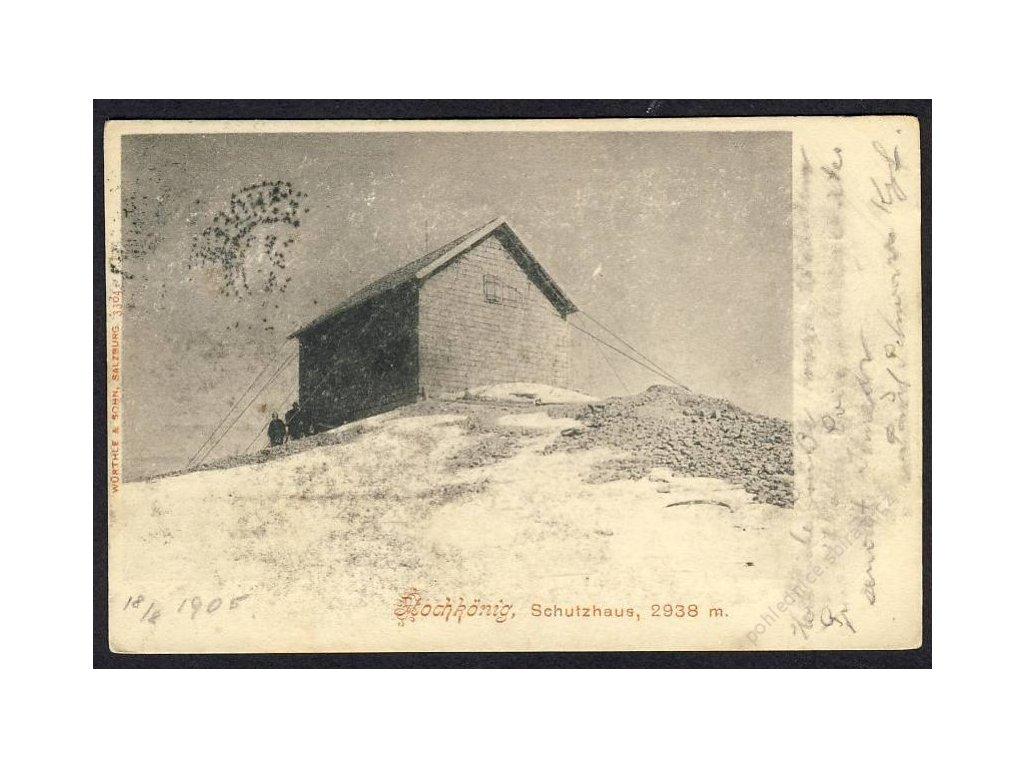 Österreich, Höchkönig, Schutzhaus, cca 1900
