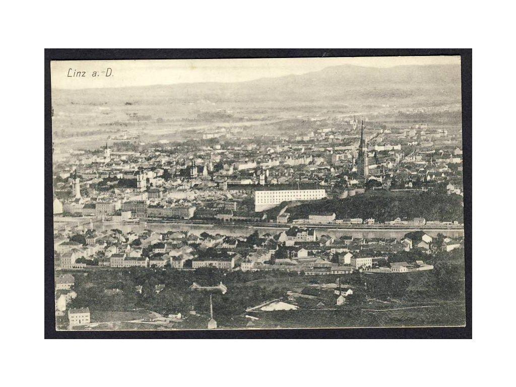 Österreich, Linz a. D., Totalansicht, cca 1913